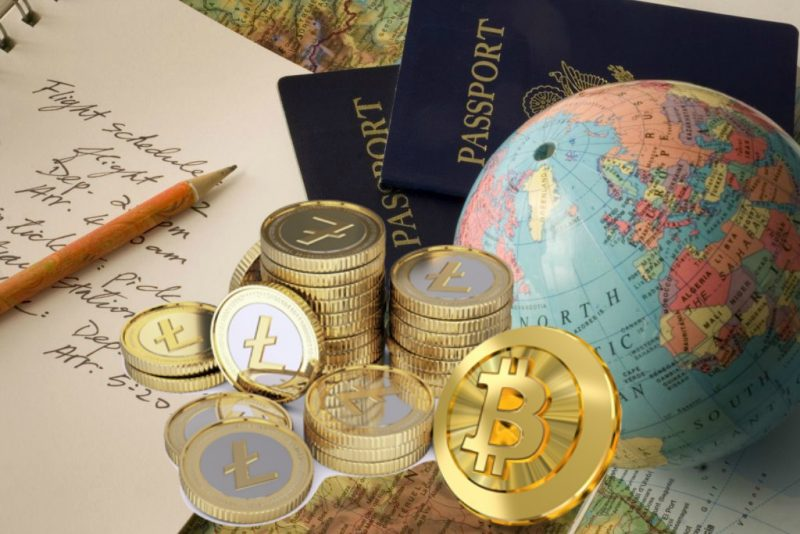 Travelling-Passport-Bitcoins-country-photo
