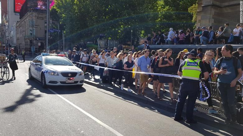 "Melbourne ""Deliberate"" Crash: Car Hits Pedestrians on the Street"