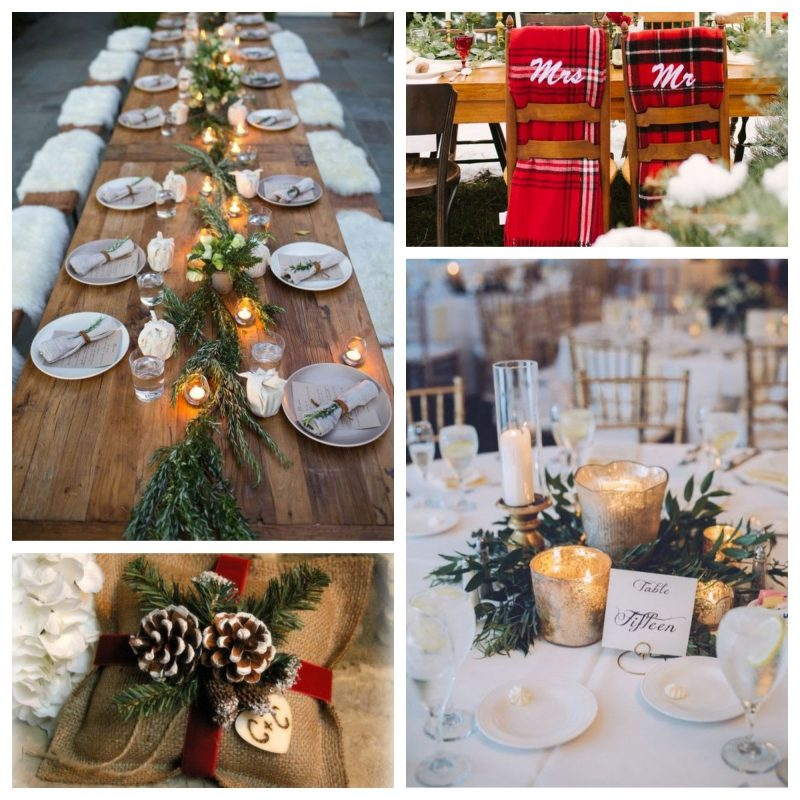 winter wedding decoration ideas photo