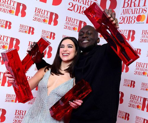 Dua-Lipa-and-Stormzy-BRIT-Awards-photo