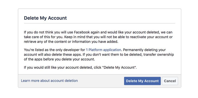 How to delete or deactivate your facebook account in 2 easy steps delete facebook photo ccuart Images