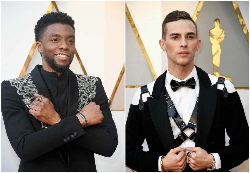 Oscar 2018 Best and Worst Red Carpet Looks: Who's Hotter - Chadwick Boseman's Jacket or Adam Rippon's S&M-Inspired Harness?
