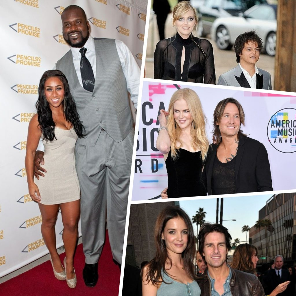 8 Celebrity Couples with a Huge Height Difference - Looks Like Tom Cruise Likes Tall Women!