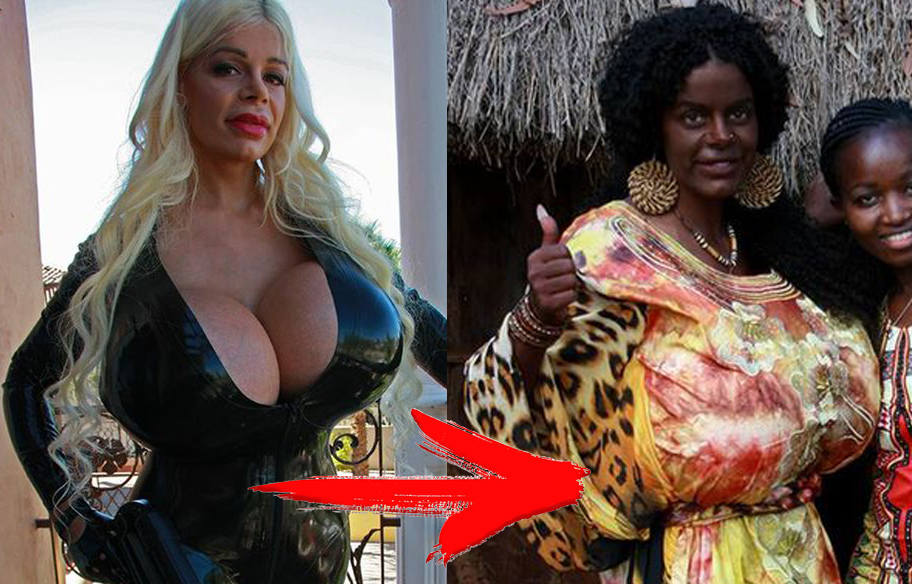 White Model with Size 32S Boobs Turned Black  + 3 More Celebs Changed Their Skin Color
