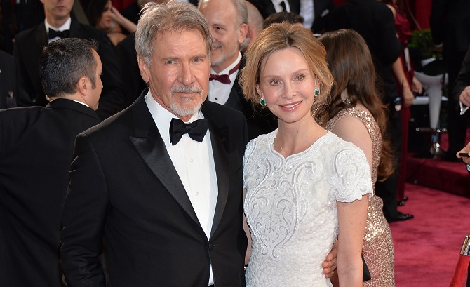 Calista-Flockhart-and-Harrison-Ford-marriage-photo