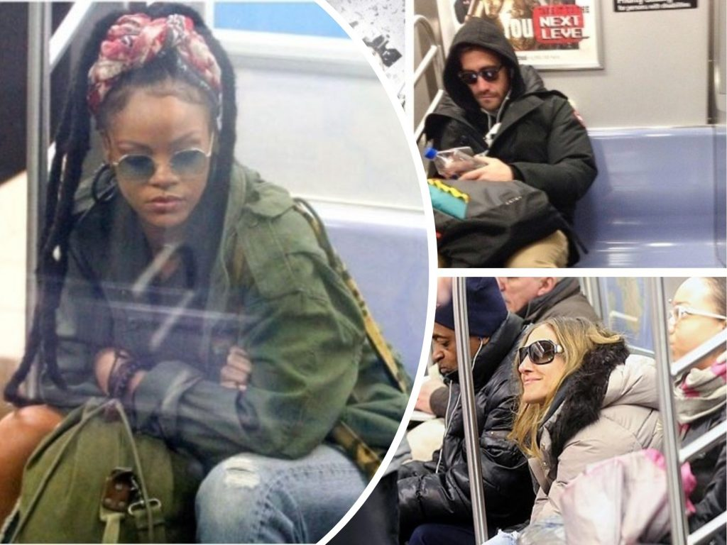 Rihanna, Jake Gyllenhaal + 8 Other Celebrities Who Were Spotted Ridding Subway Just Like Ordinary People