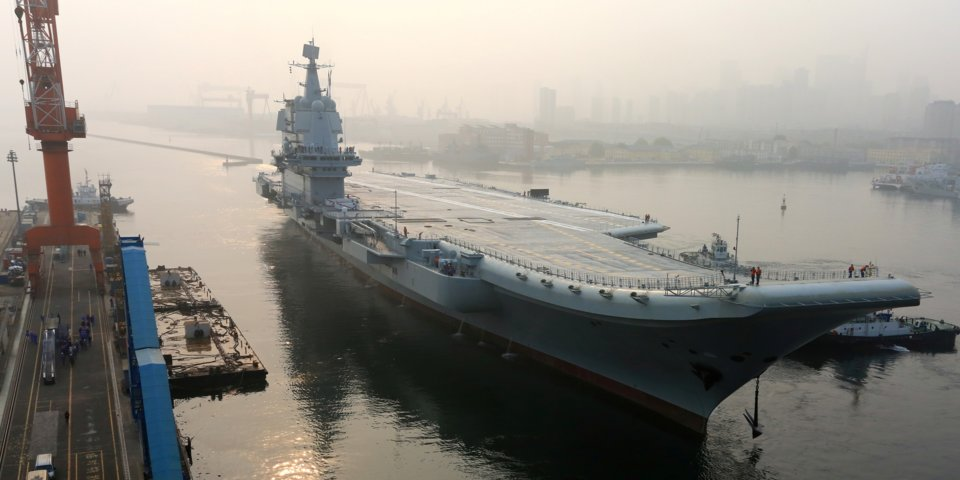 China's Steps for Global Domination - Chinese First Homemade Aircraft Carrier Ready For Sea Trials