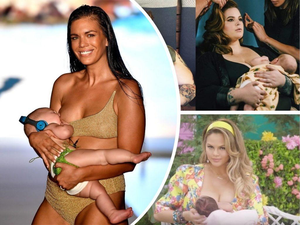 Back Off, Shamers: Model Mara Martin, Chrissy Teigen and 6 Other Famous Moms Who Defended Their Right to Breastfeed in Public