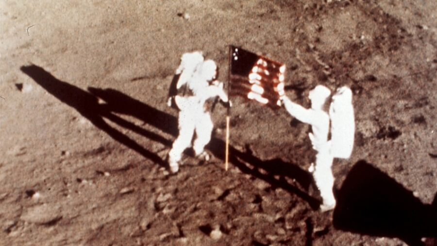 first-man-flag-pics