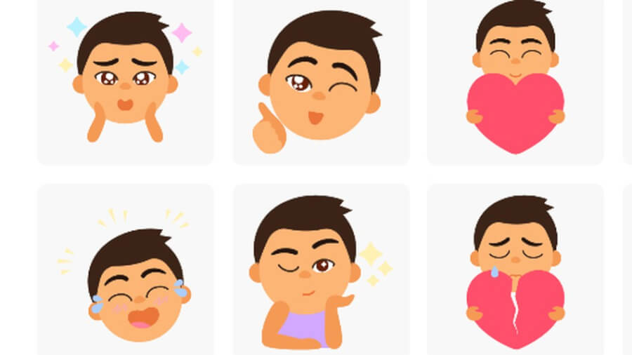 google-stickers-selfie-pic