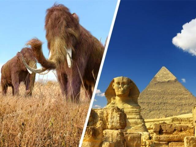 The Egyptians Built Pyramids While Mammoths Still Walked The Earth + 8 More Historical Events That Overturn Your Vision Of Time