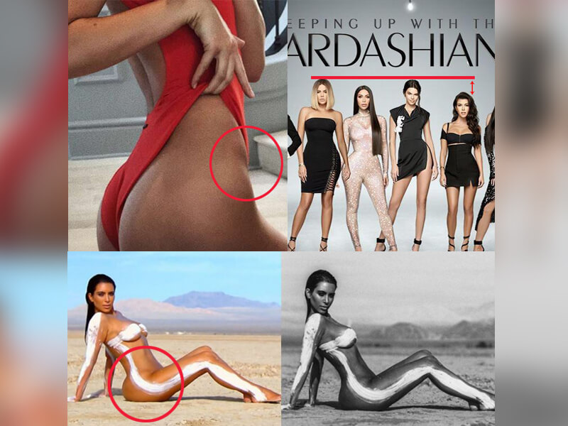 "OMG! ""Keeping Up With The Kardashians"" HUGE Photoshop Error + 7 More Editing Fails of Kardashian-Jenner"