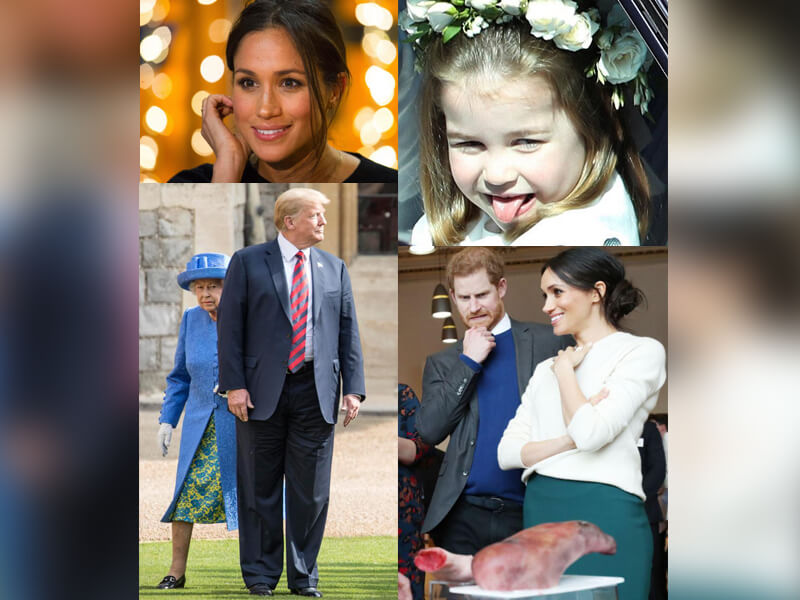 Charlotte with Tongue Out, Harry Making Grimace + 9 More Breathtaking Royal Family Pics of 2018