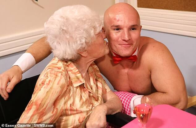 Naked Waiters For Pensioners: Butlers In The Buff Served Dinner For 89-Year-Old Lady And Her Friends