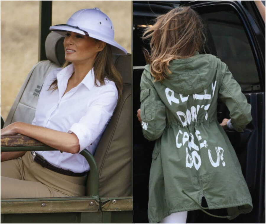 Africa Colonizer Look + 4 Other Melania Trump's Controversial Outfits - What Messages Are FLOTUS Fashion Choices Hiding?