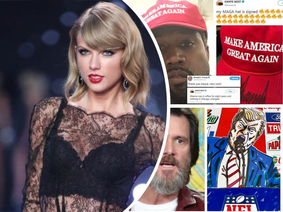 Taylor Swift First Public Political Stand + 4 Other Celebs Who Openly Express Their Political Views