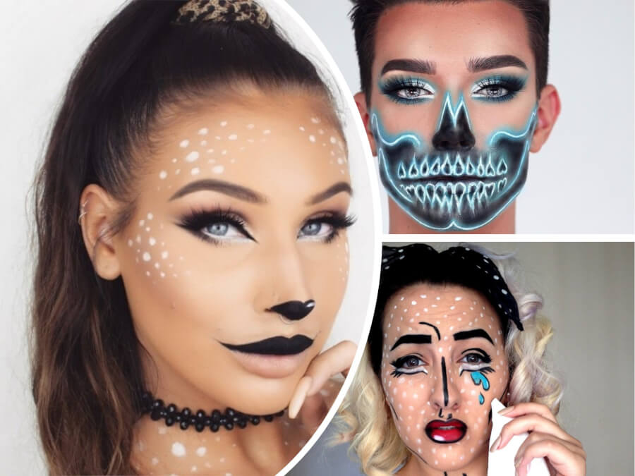 9 absolutely easy to do halloween makeup tutorials in 2018. Black Bedroom Furniture Sets. Home Design Ideas