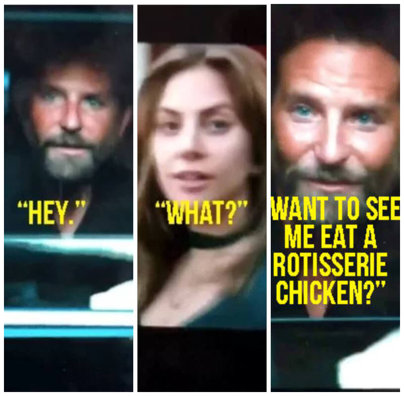 """A Star Is Born"" Memes With Bradley Cooper and Lady Gaga Are Going Viral On Twitter and People Love It"