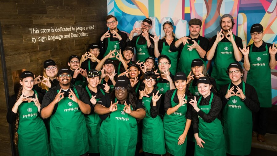 Starbucks' First 'Signing Store' for Deaf and Hard-of-Hearing Customers in US