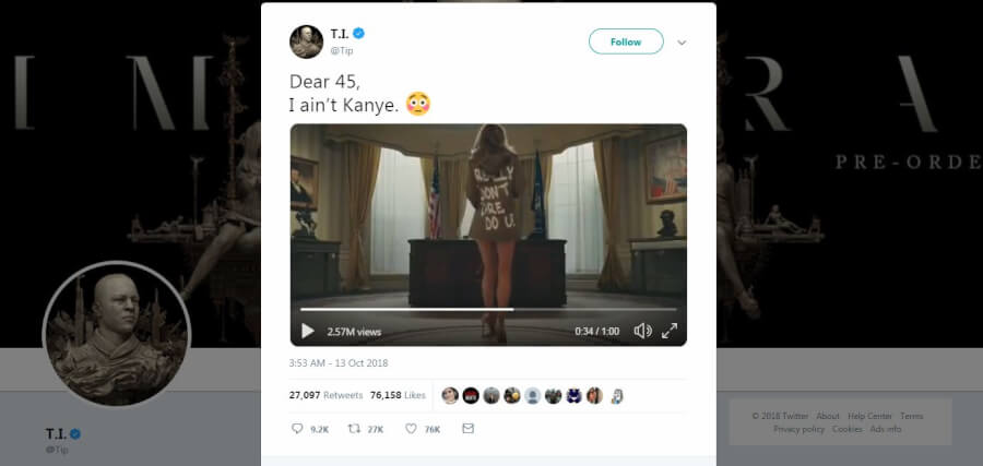 'Disgusting' T.I. Video of Melania Trump and 3 More Celebs Who Mocked Politicians