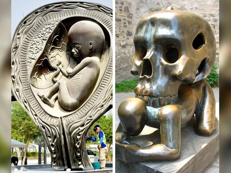 Damien Hirst's 14 Giant Uterus Sculptures and 5 More Bizarre Statues Around the World
