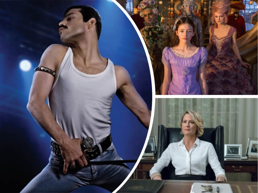"Movie News and Premieres: ""Bohemian Rhapsody"", ""The Nutcracker and the Four Realms"", ""House of Cards"" Season 6 + More"