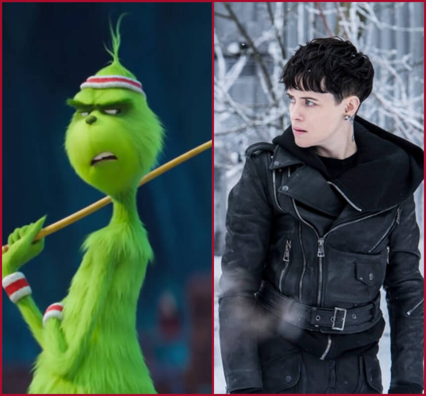 "Movie News and Premieres: ""The Girl In The Spider's Web"", ""The Grinch"", ""Fantastic Beasts: The Crimes of Grindelwald"" and 4 More"