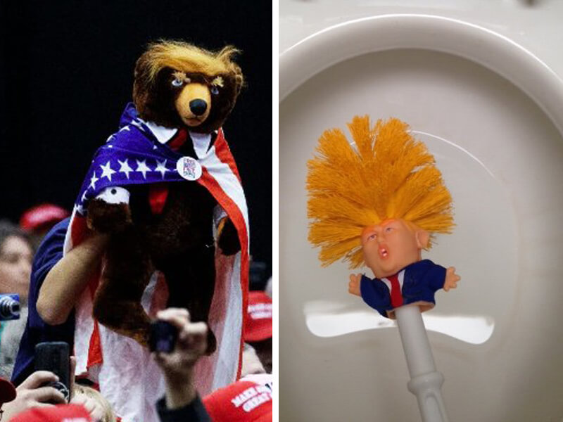 LOL! Trumpy Bear, Trump Toilet Brush and 7 More Ridiculous POTUS Products!