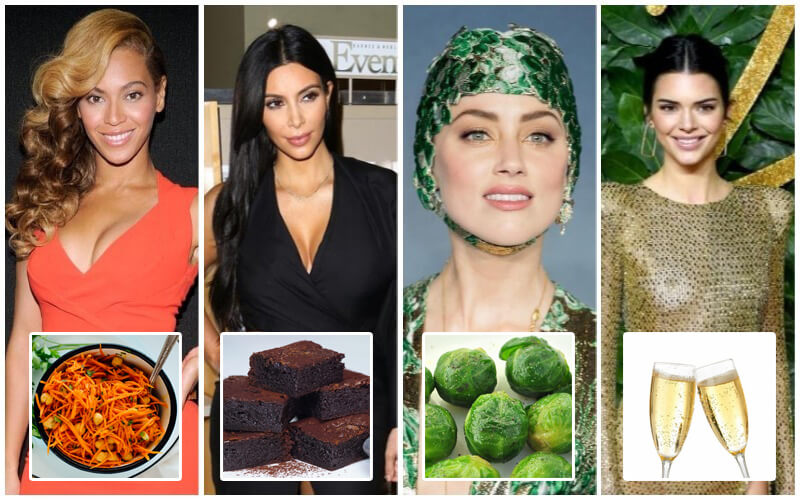Brussels Sprouts Amber Heard, Champagne Kendall Jenner + 8 More Celebs Dressed Like Christmassy Food