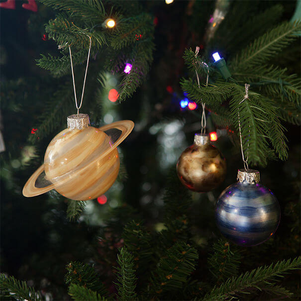 Christmas Tree Decorations 2019.Christmas Decorating Ideas 2019 Planetary Ornaments