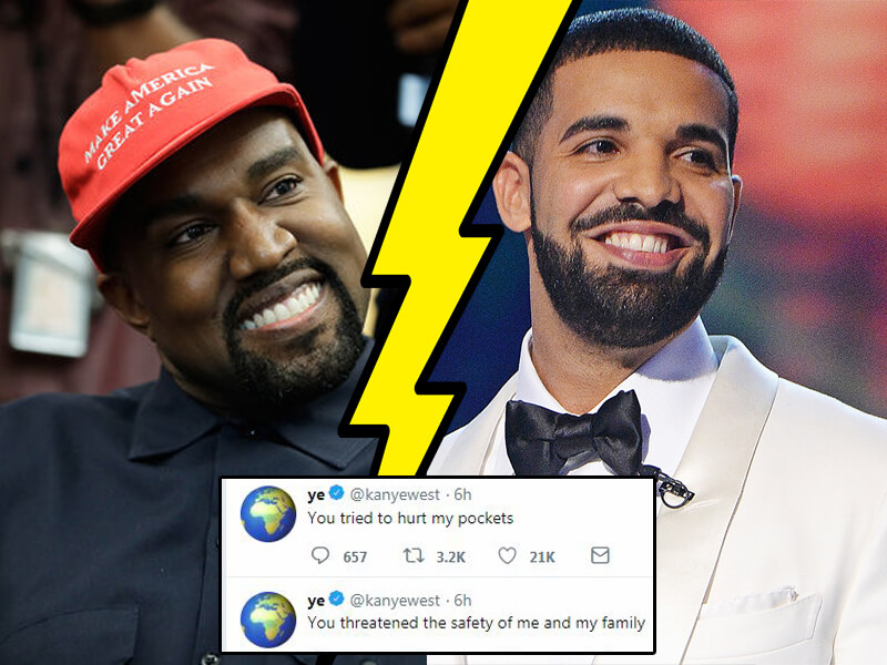 All About Kanye West and Drake Twitter Rant, Ariana Grande and Kim Kardashian Reaction + FUNNY Memes