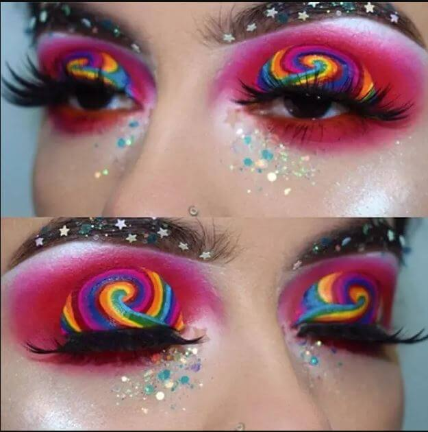 Rainbow Makeup: Crazy but Chic Makeup Ideas to Try Out For Christmas or New Year Party Night (If You Are Brave Enough)