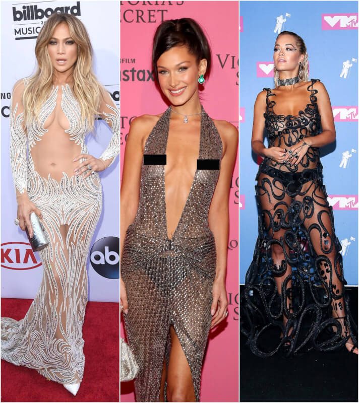 Invisible Dresses: 12 Times Celebrities Wore Daring 'Naked' Outfits at the Red Carpets