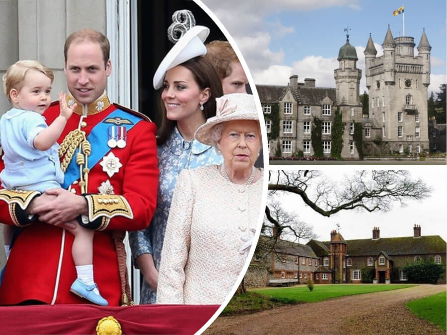 Amazing £13BILLION Worth Royal Family's Castles and Homes - Both Official and Private