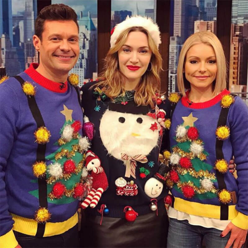 10 Times When Celebrities Rocked Ugly Christmas Sweaters