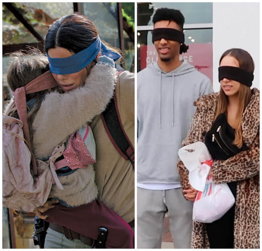 New Year Started With New Viral 'Bird Box' Challenge And Netflix Begs People to 'Not End Up in the Hospital'