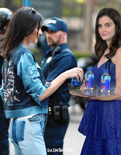 New Year New Meme Fiji Water Girl Is Real Star Of Golden