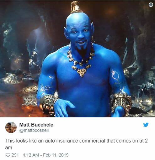 Insane First Look at Will Smith's Genie in Disney's 'Aladdin' and 9 Hilarious Twitter Reactions