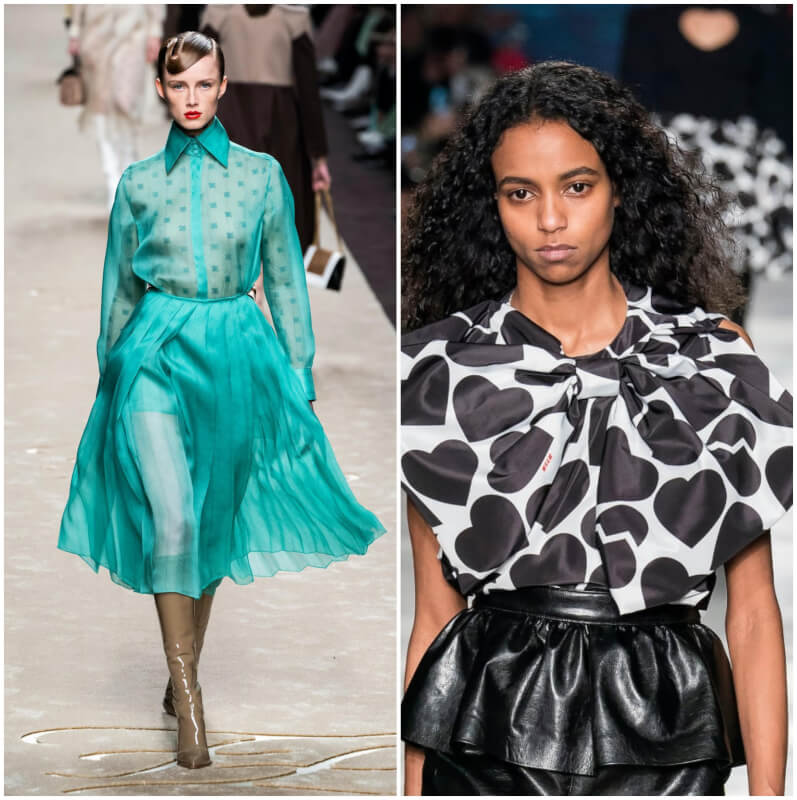 6 Fashion Trends Seen at Milan Fall 2019 Runways - From 'Matrix' Inspired Leather Looks to Romantic Pussy Bows
