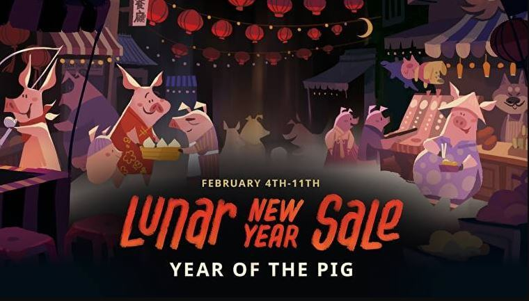 Steam Lunar New Year Sale: HOT Video Game Deals 50% Off + $5 Coupons!
