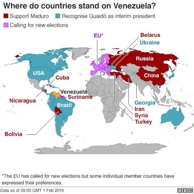 venezuela-map-countires-support-maduro-photo