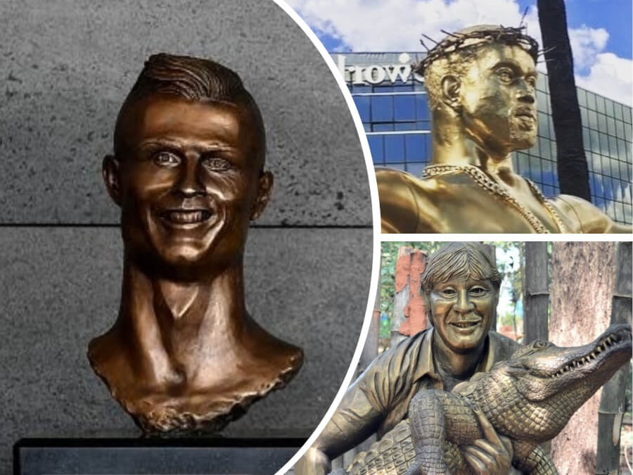 7 Hilarious Celebrity Statues Fails - Is This James Deen Or Michael Myers?