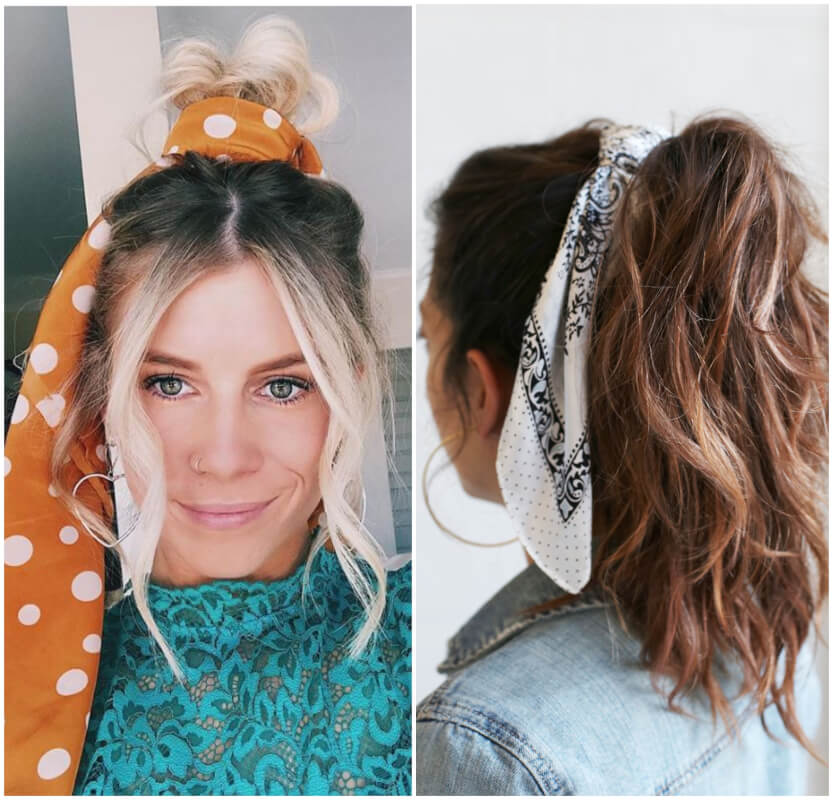 7 Chic Ideas How To Wear Spring-Summer 2019 Biggest Trends - Hair Bows and Scarves