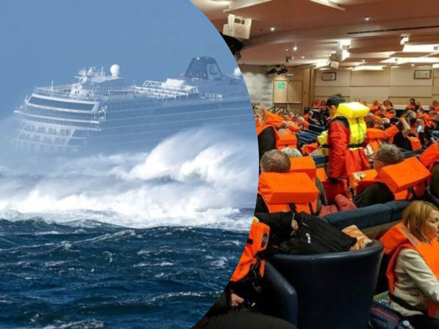 1,300 Passengers Evacuated from Cruise Ship Off Coast of Norway After Engine Problems - See in Videos and Pictures