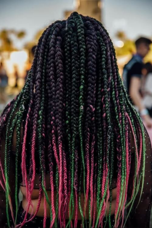 summer-2019-hair-trends-color-pink-green-ideas-photo