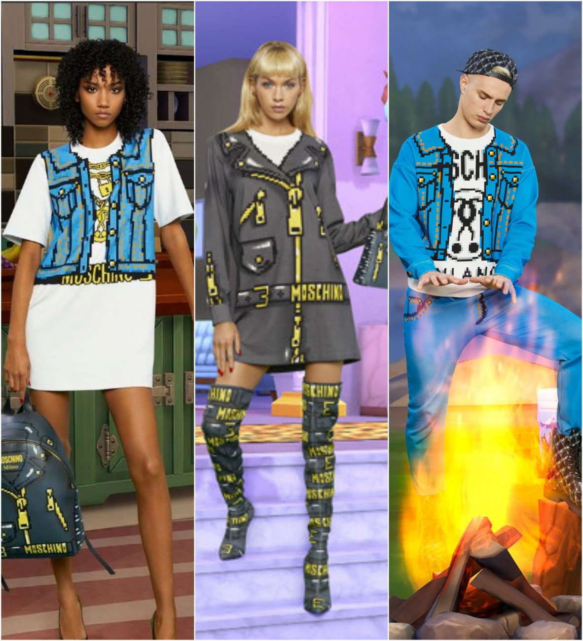 Moschino New Fashion Line Will Turn You Into A Real Life The Sims Character I Need All Of It Please
