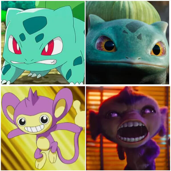 Detective Pikachu Characters vs Originals:  It's Hard to Choose - Are They Cute or Creepy As Hell?