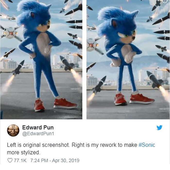 Creepy AF Teeth and Fur - Memes About 'Sonic The Hedgehog' Trailer