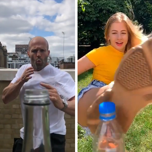 What's #BottleCapChallenge? See Jason Statham and MMA Fighters Nail Viral Instagram's Trick