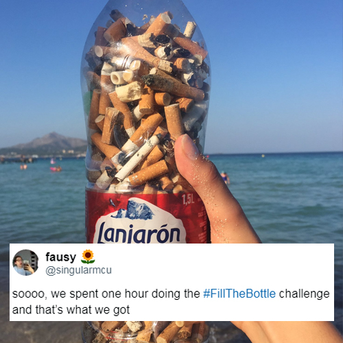 French Teens Inspired Viral #FillTheBottle Challenge To Get Rid of Cigarette Butts